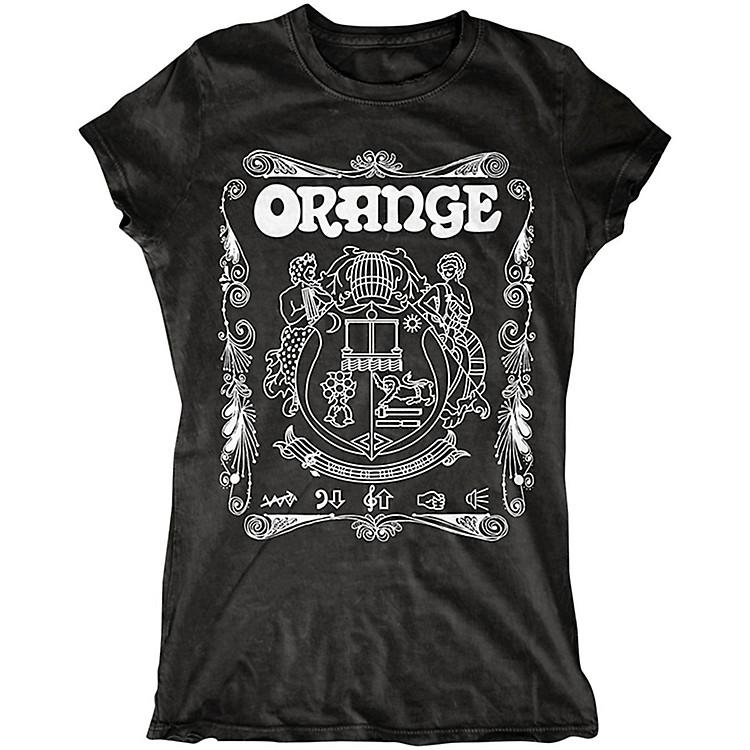 Orange AmplifiersLadies Crest T-Shirt with White CrestBlackLarge