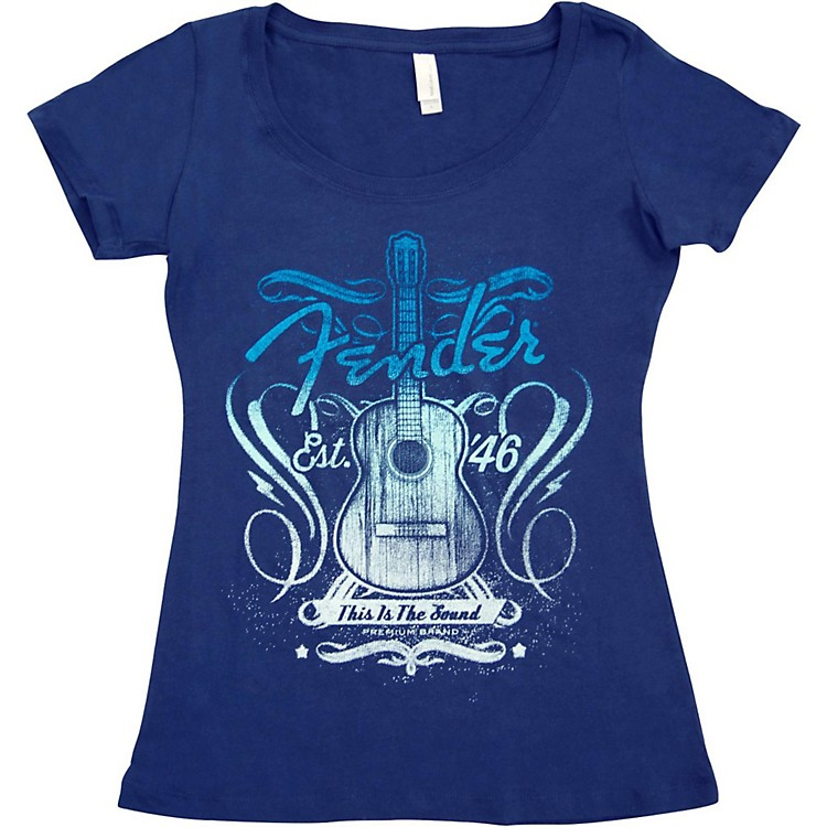 Fender Ladies Sound T-Shirt Large Navy