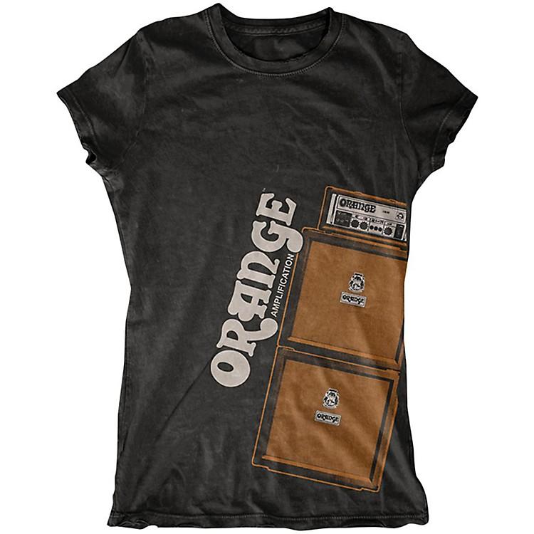 Orange AmplifiersLadies Stack T-ShirtBlackSmall