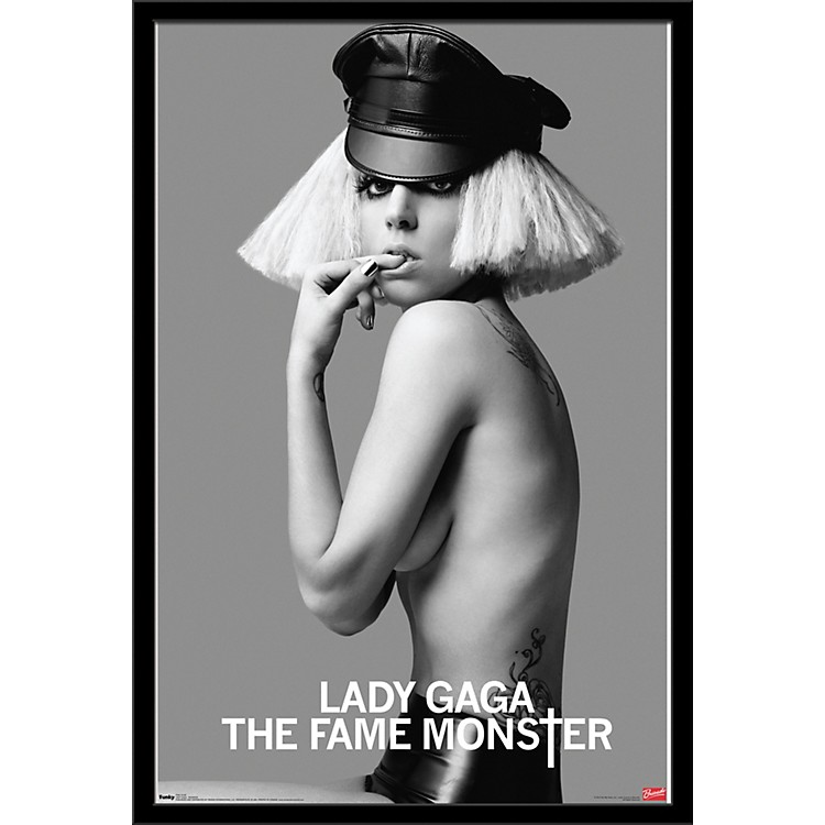 Trends International Lady Gaga - Monster Poster Framed Black