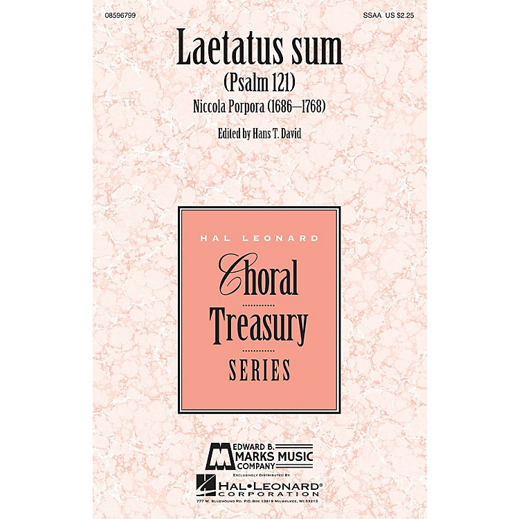 Edward B. Marks Music CompanyLaetatus Sum (Psalm 121) SSAA composed by Nicola Porpora