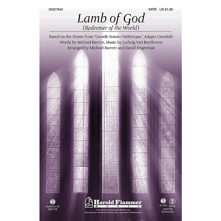 Shawnee PressLamb of God (Redeemer of the World) (Theme from Beethoven's Pathetique) ORCHESTRATION ON CD-ROM