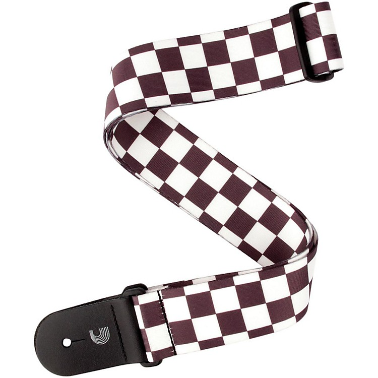 D'Addario Planet WavesLarge Checkerboard, by D'AddarioBlack and White