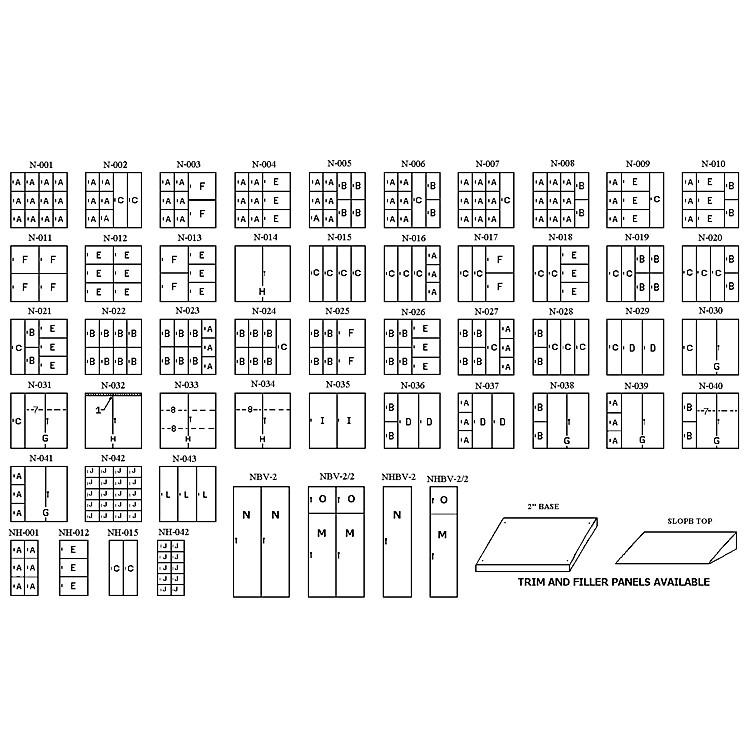 NorrenLarge Instrument Storage Half CabinetNbv-2  Gray