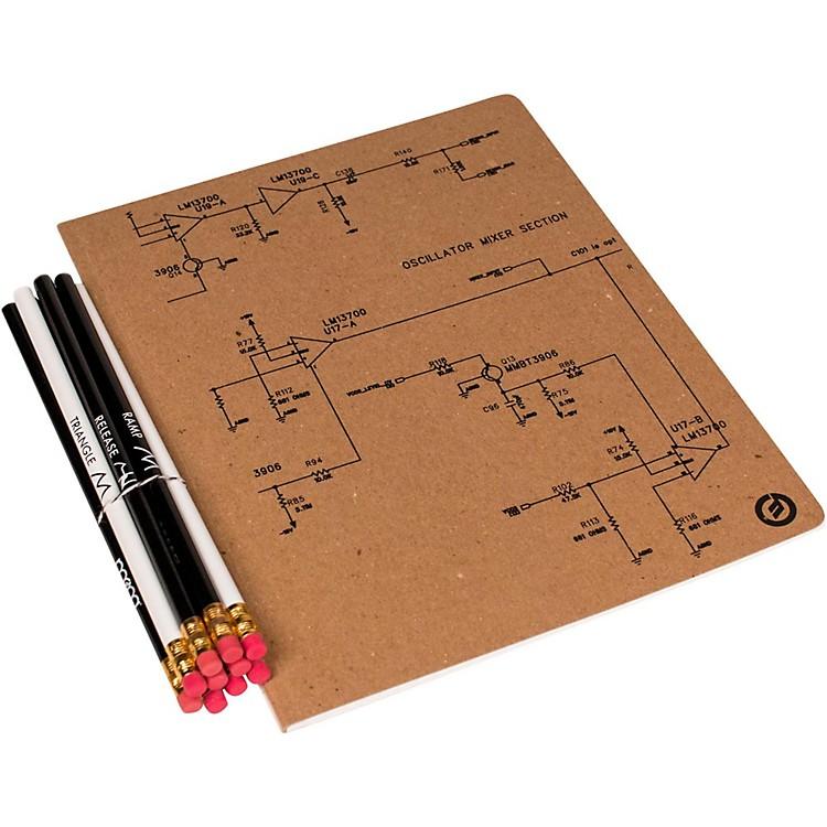 MoogLarge Notebook and Pencil Set (8X10)