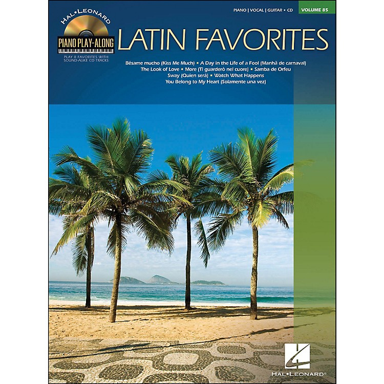 Hal LeonardLatin Favorites - Piano Play-Along Volume 85 (CD/Pkg) arranged for piano, vocal, and guitar (P/V/G)