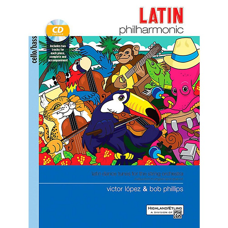 AlfredLatin Philharmonic - Cello/Bass Book & CD