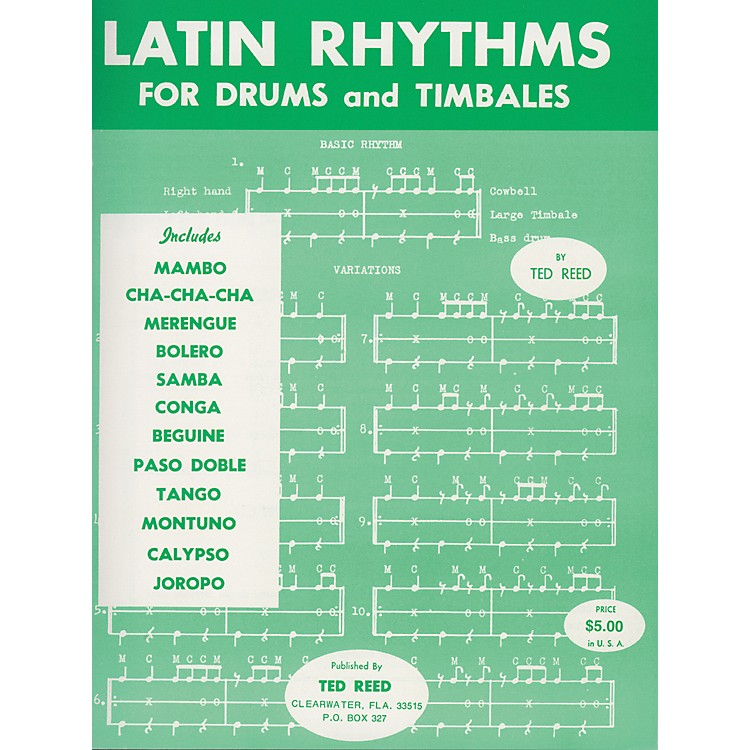 AlfredLatin Rhythms for Drums and Timbales Book