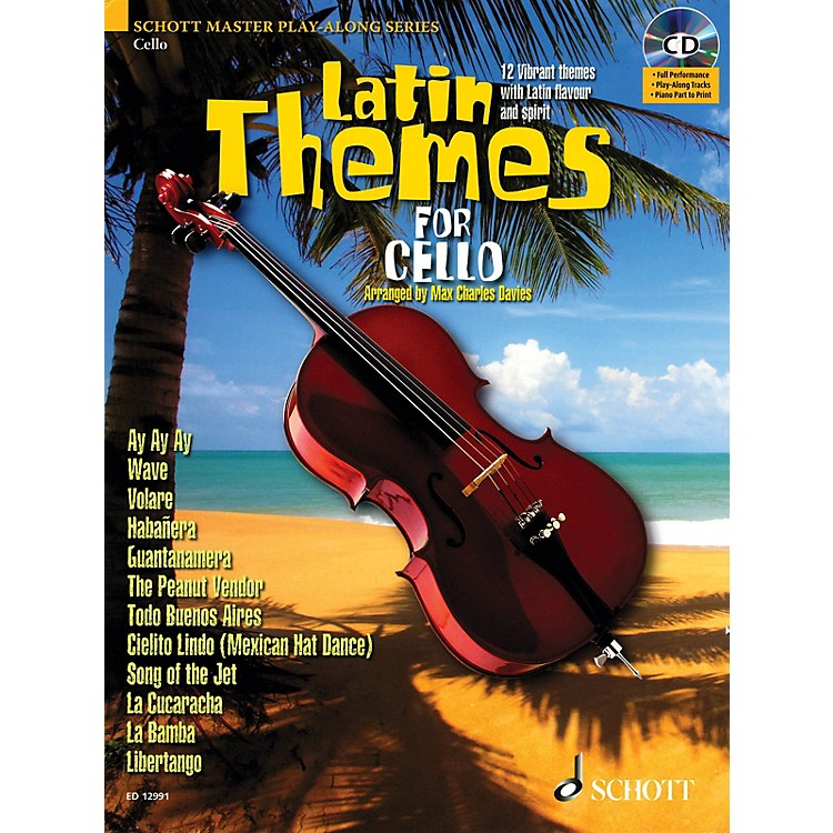 SchottLatin Themes for Cello (for Cello) Instrumental Play-Along Series Softcover with CD
