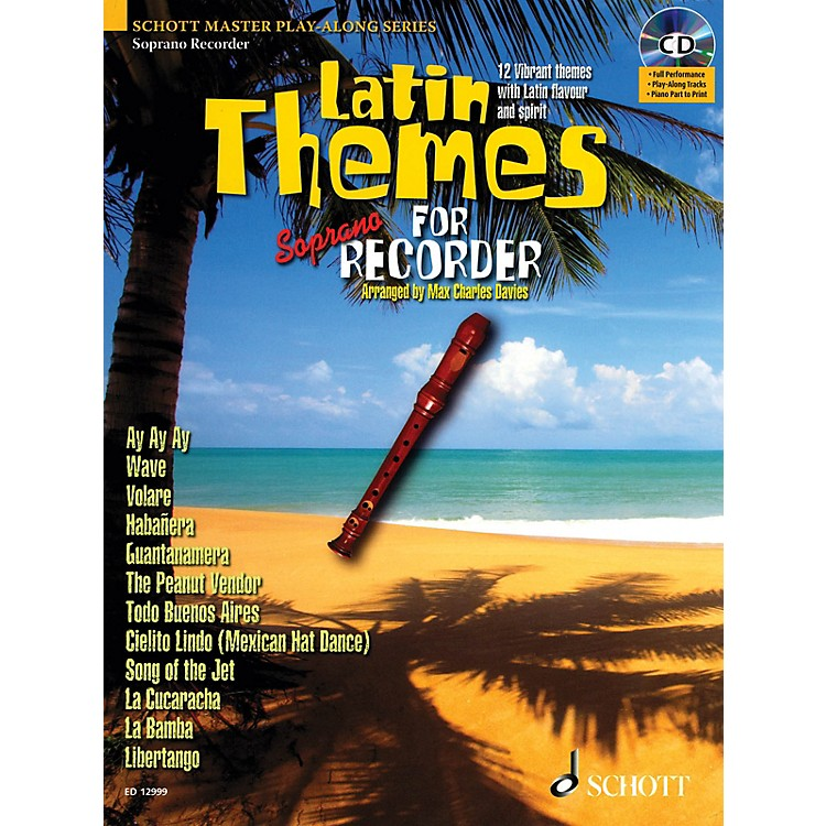 Schott Latin Themes for Soprano Recorder Instrumental Play-Along Series Softcover with CD