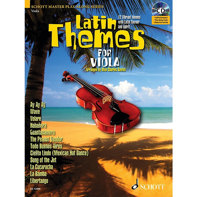 SchottLatin Themes for Viola (for Viola) Instrumental Play-Along Series Softcover with CD