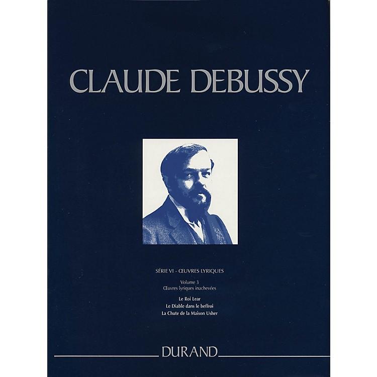 Editions DurandLe Roi Lear, Le Diable dans le beffroi, La Chute de la Maison Usher Critical Ed Full Score by Debussy