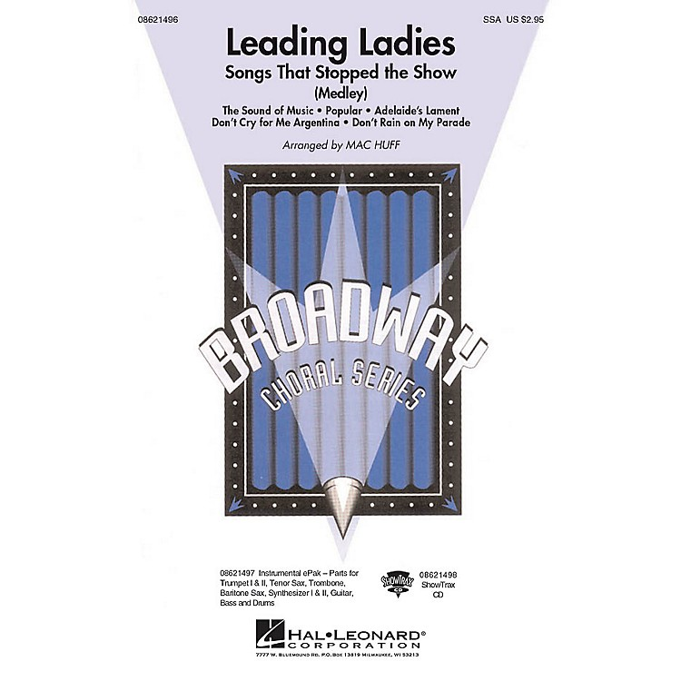 Hal LeonardLeading Ladies: Songs That Stopped the Show ShowTrax CD Arranged by Mac Huff