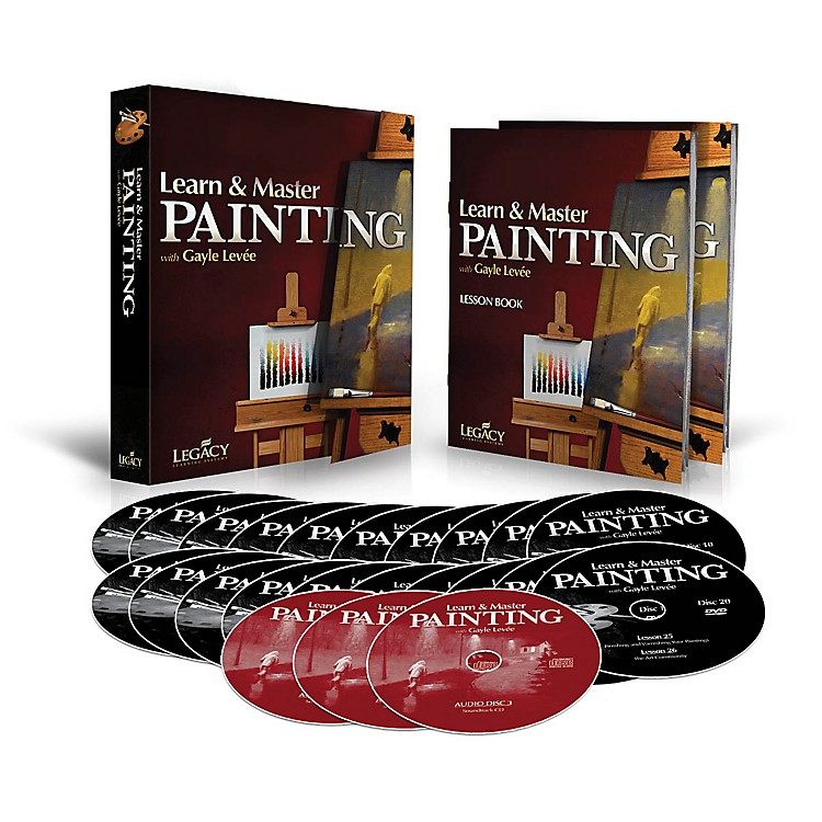 Legacy LearningLearn & Master Painting - Homeschool Edition (Book/3-CD/20-DVD Pack) DVD Series Written by Gayle Levée