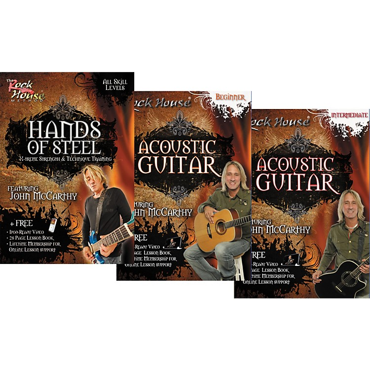 Rock HouseLearn Rock Acoustic Guitar Beginner, Intermediate, and Hands of Steel (3-DVD Set)