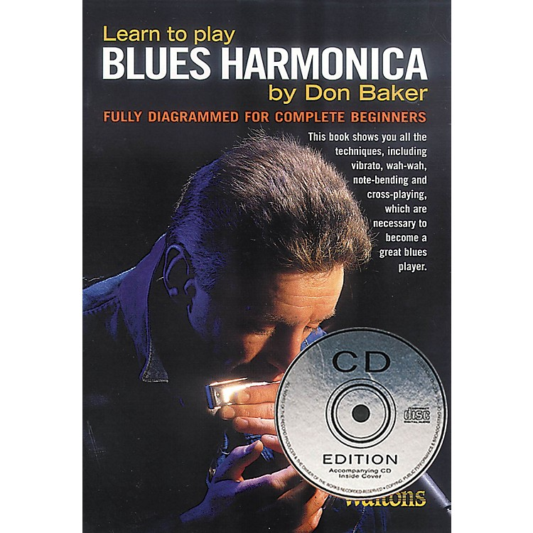 WaltonsLearn to Play Blues Harmonica Waltons Irish Music Books Series Softcover with CD Written by Don Baker