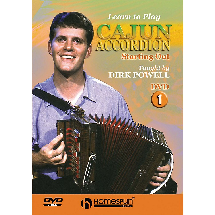 HomespunLearn to Play Cajun Accordion DVD/Instructional/Folk Instrmt Series DVD Written by Dirk Powell