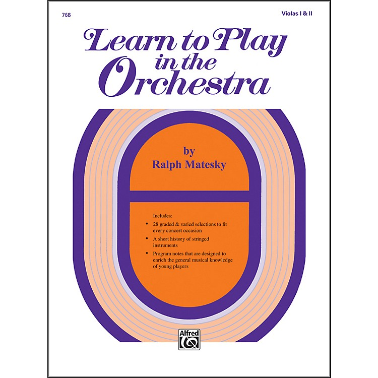 AlfredLearn to Play in the Orchestra Book 1 Violas I & II