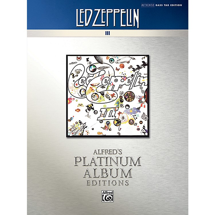 AlfredLed Zeppelin - III Platinum Bass Guitar Book