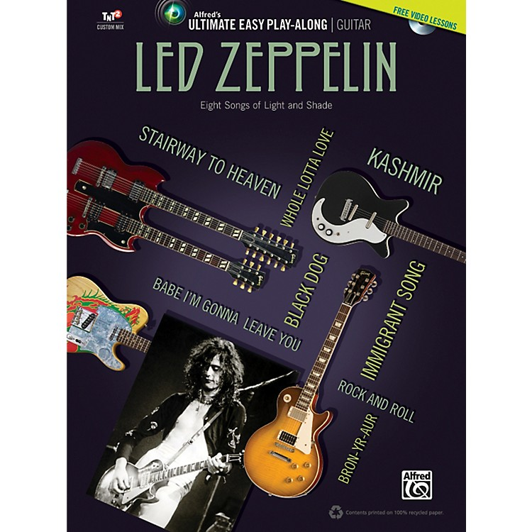 AlfredLed Zeppelin - Ultimate Easy Guitar Play-Along (Book & DVD)