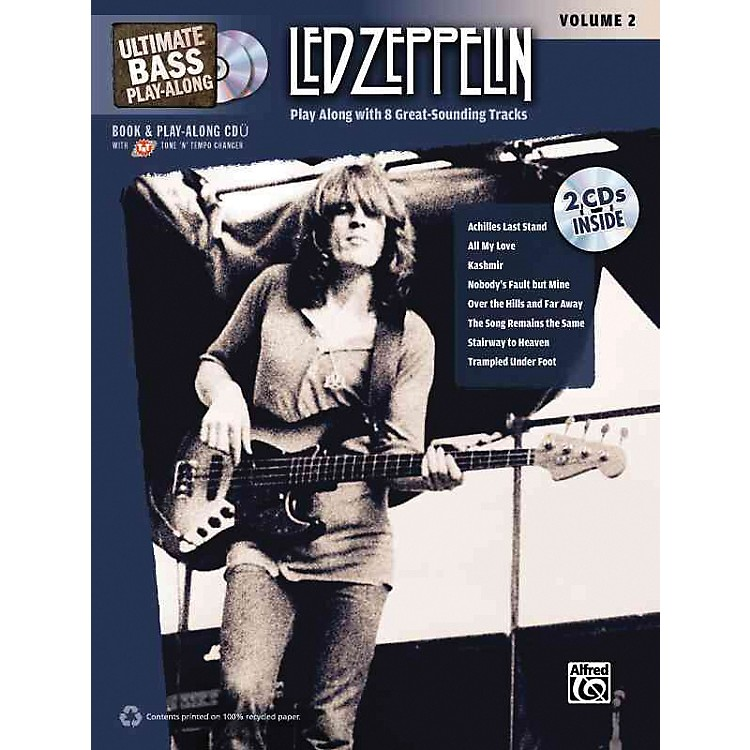 AlfredLed Zeppelin Ultimate Play Along Bass Volume 2 with 2 CD's