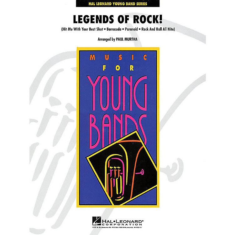 Hal Leonard Legends of Rock! - Young Concert Band Level 3 by Paul Murtha