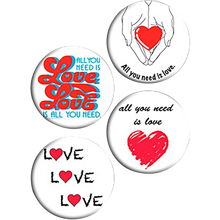 C&D VisionaryLennon & McCartney All You Need Is Love Button Set