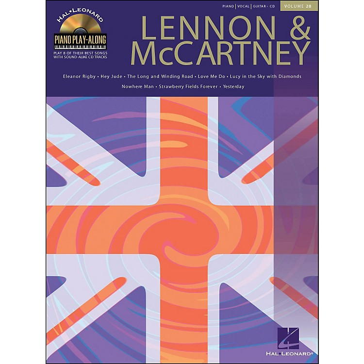 Hal LeonardLennon & McCartney Piano Play-Along Volume 28 Book/CD arranged for piano, vocal, and guitar (P/V/G)