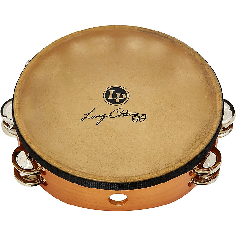 LPLenny Castro Signature Double Row Headed Tambourine with Bag10 in.