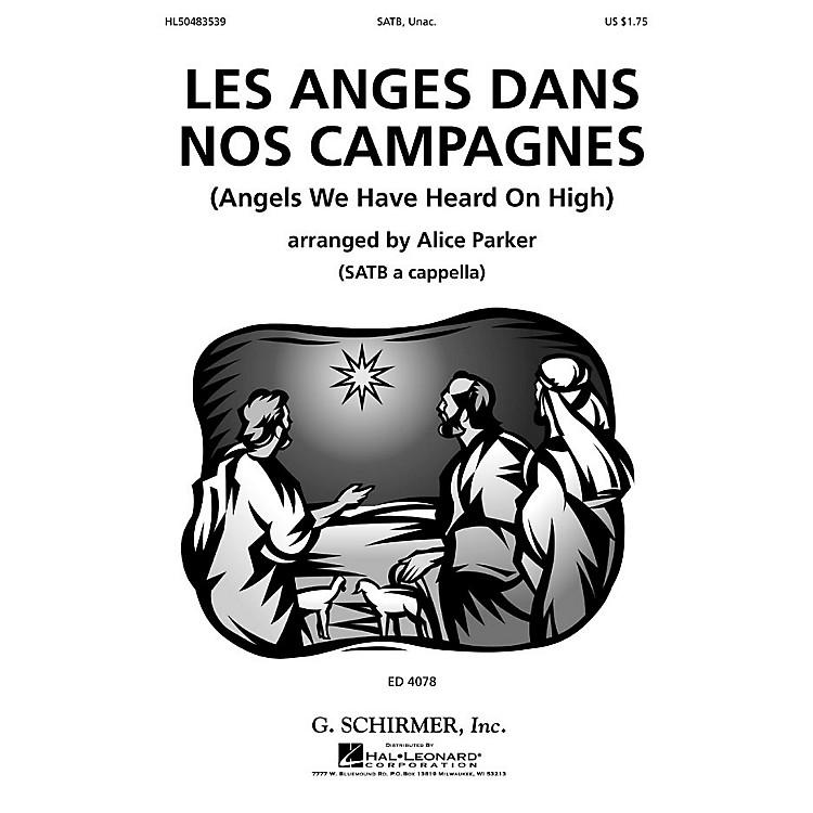 G. SchirmerLes Anges Dans Nos Campagnes (SSATB a cappella) SSATB A Cappella