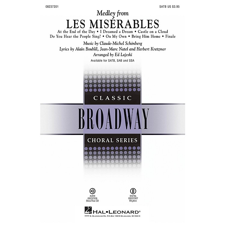 Hal Leonard Les Misérables (Choral Medley) SATB arranged by Ed Lojeski