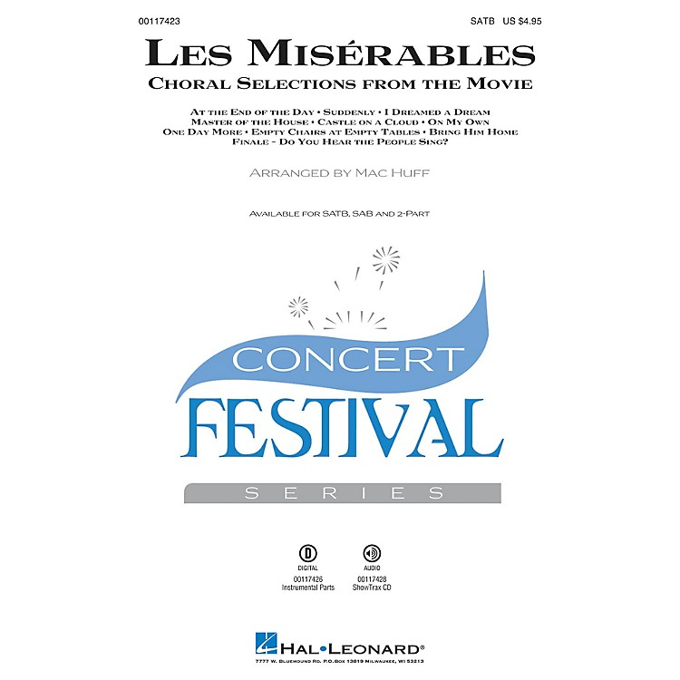 Hal Leonard Les Misérables (Choral Selections from the Movie) ShowTrax CD Arranged by Mac Huff
