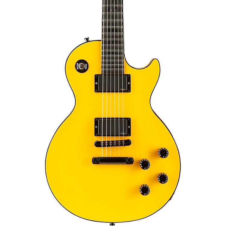 Gibson CustomLes Paul Custom Chambered Blackout Electric GuitarDiablo Yellow