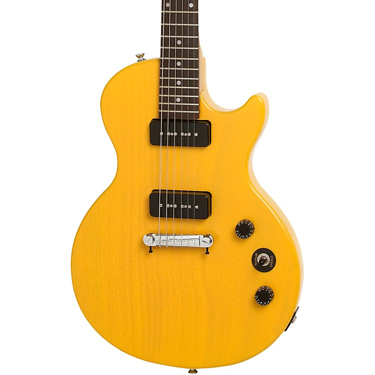 epiphone les paul special i p90 electric guitar worn tv yellow music123. Black Bedroom Furniture Sets. Home Design Ideas