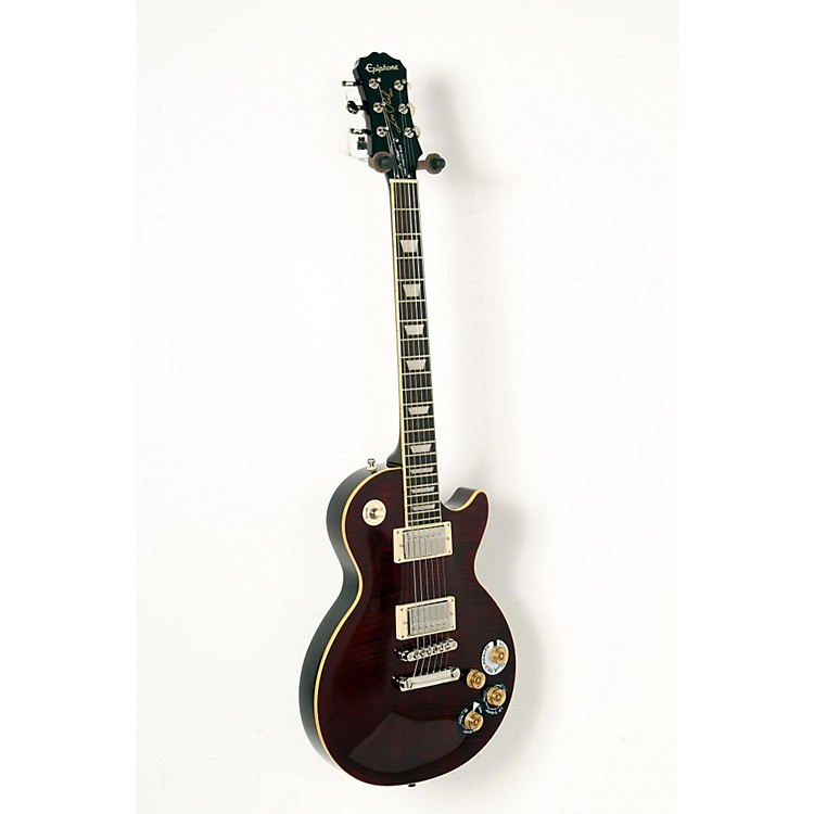 Epiphone Les Paul Tribute Plus Electric Guitar Black Cherry 888365841649