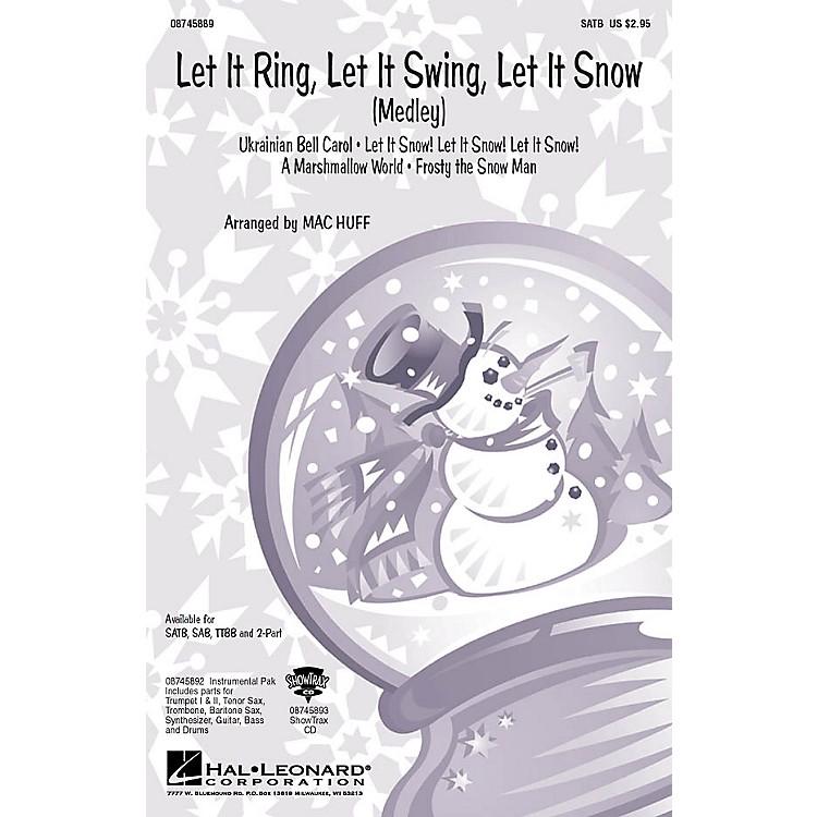 Hal LeonardLet It Ring, Let It Swing, Let It Snow (Medley) TTBB Arranged by Mac Huff