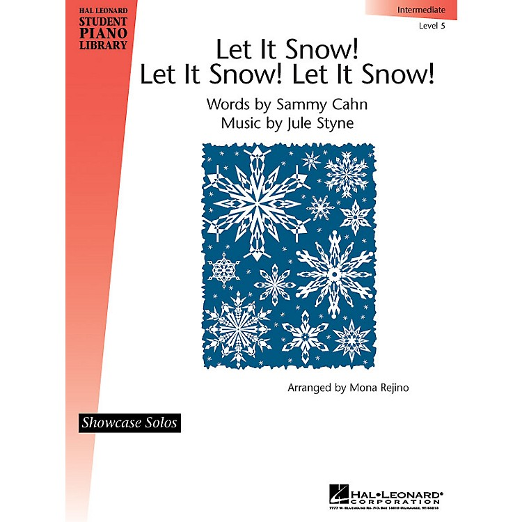 Hal LeonardLet It Snow! Let It Snow! Let It Snow! Piano Library Series by Jule Styne (Level Inter)