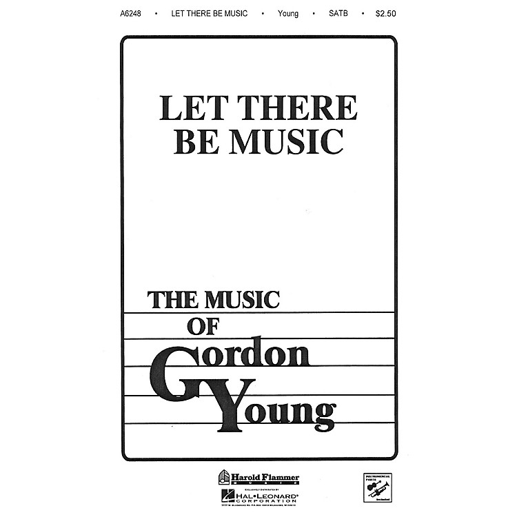 Shawnee PressLet There Be Music SATB composed by Gordon Young