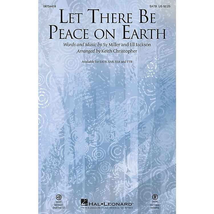 Hal LeonardLet There Be Peace On Earth CHOIRTRAX CD Arranged by Keith Christopher