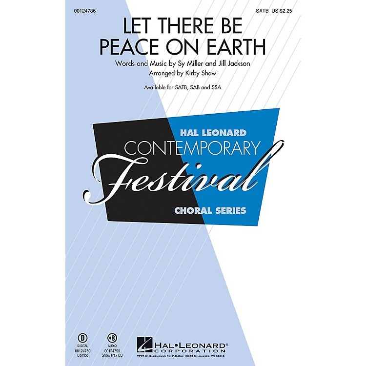 Hal Leonard Let There Be Peace on Earth SSA Arranged by Kirby Shaw
