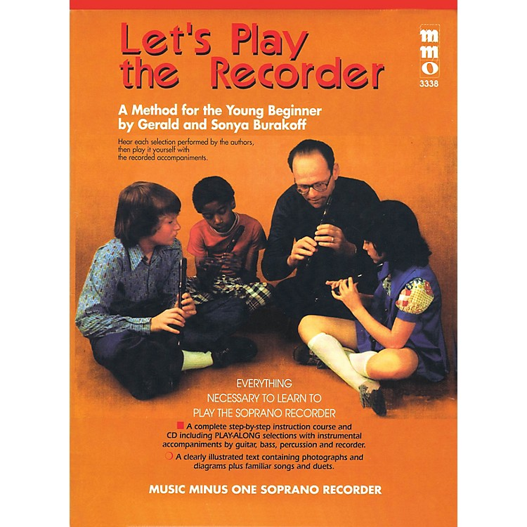 Music Minus OneLet's Play the Recorder Music Minus One Series Softcover with CD Written by Gerald Burakoff