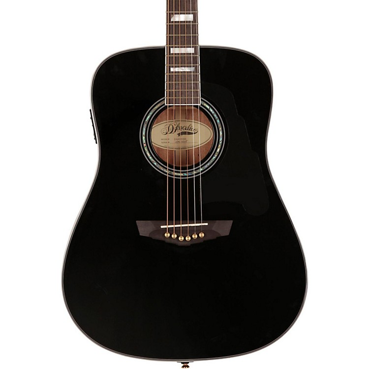 D'Angelico Lexington Dreadnought Acoustic-Electric Guitar Black