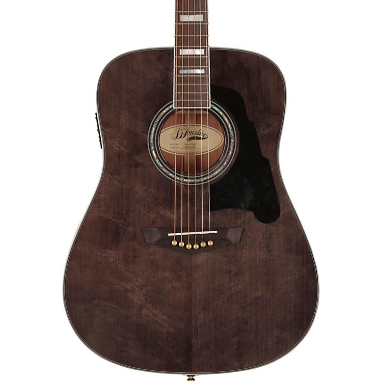 D'Angelico Lexington Dreadnought Acoustic-Electric Guitar Gray-Black