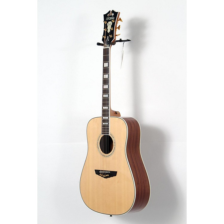 D'Angelico Lexington Dreadnought Acoustic-Electric Guitar Natural 190839026460