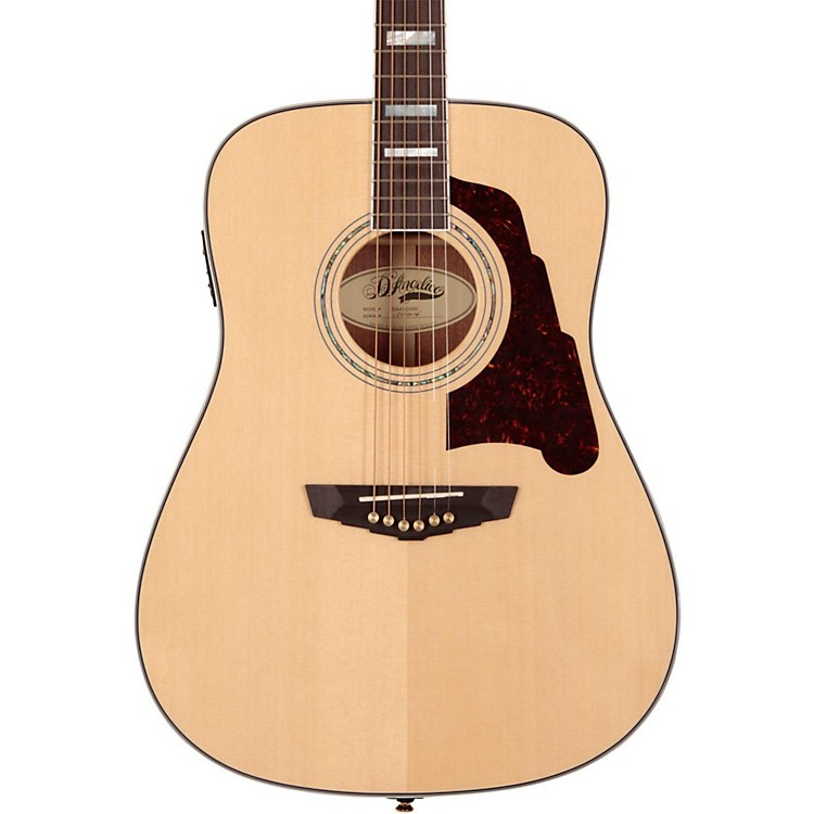 D'Angelico Lexington Dreadnought Acoustic-Electric Guitar Natural