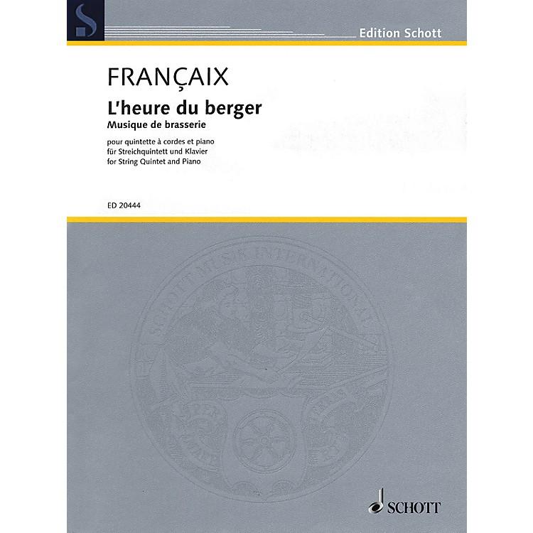 SchottL'heure du berger: Musique de brasserie String Series Softcover Composed by Jean Françaix