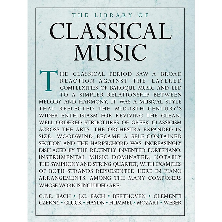 Music Sales Library Of Classical Music - Piano Solo