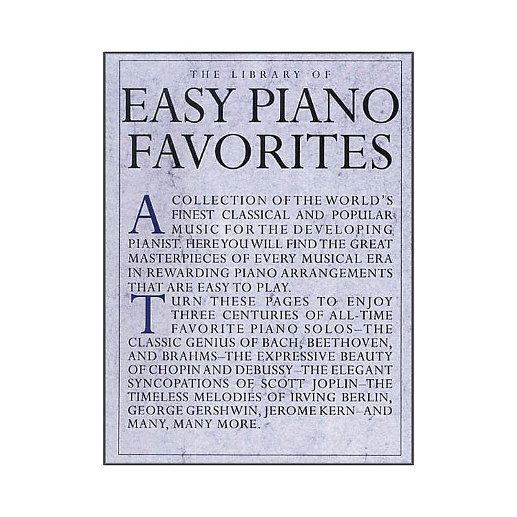 Music Sales Library Of Easy Piano Favorites