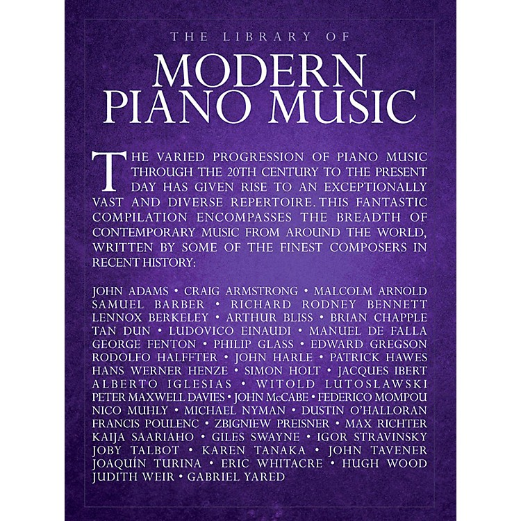 Music SalesLibrary Of Modern Piano Music - Piano Solo