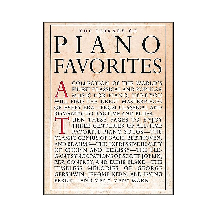 Music SalesLibrary Of Piano Favorites By Appleby